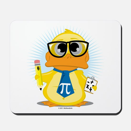 Math Teacher Duck Mousepad