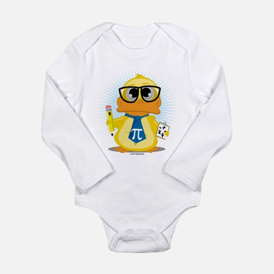 Math Teacher Duck Long Sleeve Infant Bodysuit