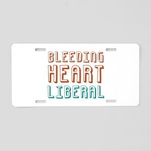Bleeding Heart Liberal Aluminum License Plate