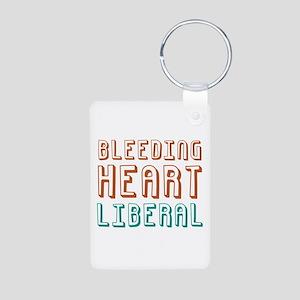 Bleeding Heart Liberal Aluminum Photo Keychain