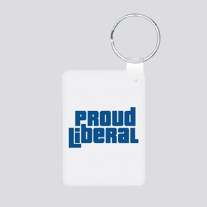 Proud Liberal Aluminum Photo Keychain