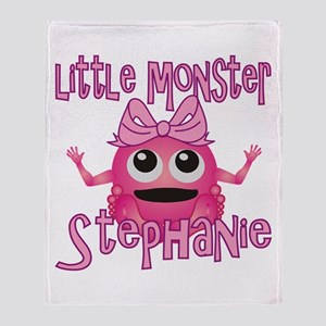 Little Monster Stephanie Throw Blanket