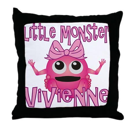Little Monster Vivienne Throw Pillow