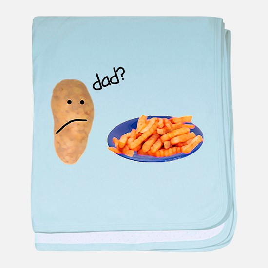 Potato French Fries Dad baby blanket
