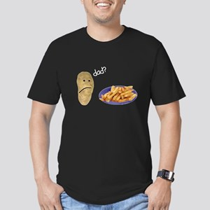 Potato French Fries Dad Men's Fitted T-Shirt (dark