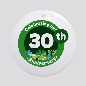 30th Anniversary Celebration Gift Ornament (Round)