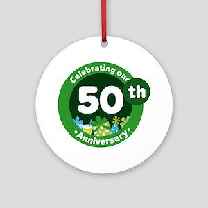 50th Anniversary Celebration Gift Ornament (Round)