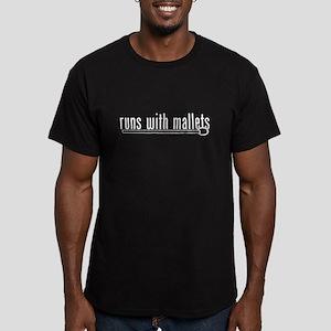 funny mallet Men's Fitted T-Shirt (dark)