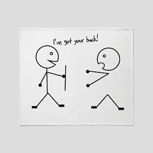 I've got your back Throw Blanket