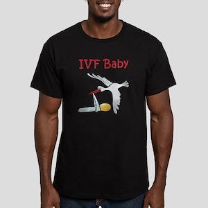 IVF Stork Men's Fitted T-Shirt (dark)