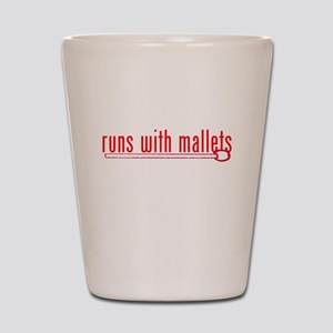 funny mallet Shot Glass