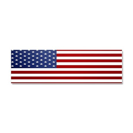 American Flag Car Magnet 10 x 3