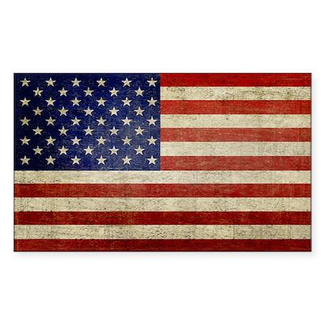 Distressed Flag v2 Sticker (Rectangle)