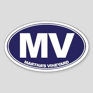 MV - Martha's Vineyard Sticker (Oval)