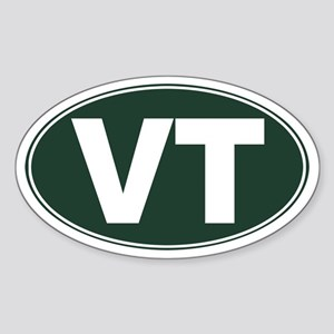VT - Vermont Sticker (Oval)