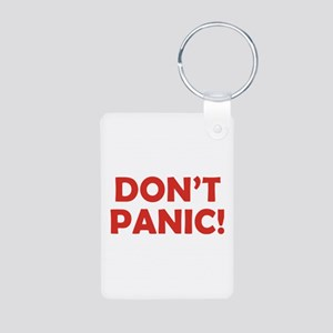 Don't Panic! Aluminum Photo Keychain