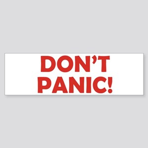 Don't Panic! Sticker (Bumper)