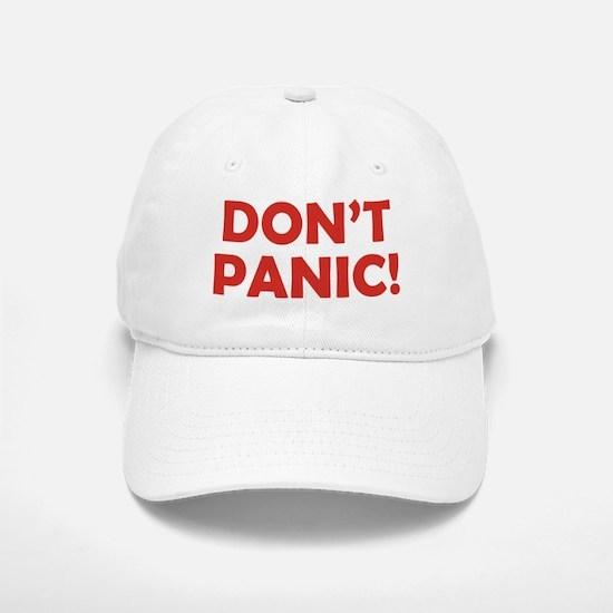 Don't Panic! Baseball Baseball Cap