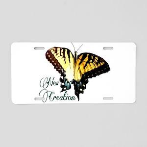 New Creation~ Swallowtail Aluminum License Plate
