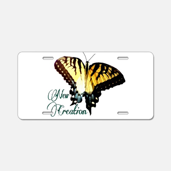 New Creation~ Swallowtail Aluminum License Plate