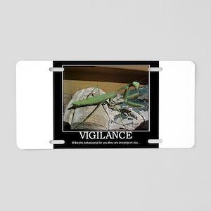 preying mantis Aluminum License Plate