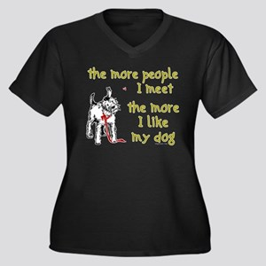 The More People I Meet (Dog) Women's Plus Size V-N