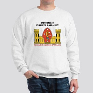 2nd Combat Engineer Battalion with Text Sweatshirt
