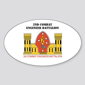 2nd Combat Engineer Battalion with Text Sticker (O