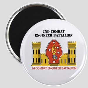 2nd Combat Engineer Battalion with Text Magnet