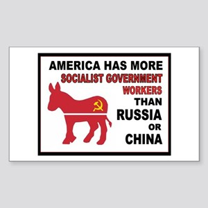 DEMOCRAT SOCIALISTS Sticker (Rectangle)