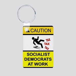 DEMOCRAT SOCIALISTS Aluminum Photo Keychain