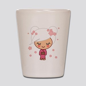 cherry blossom girl Shot Glass
