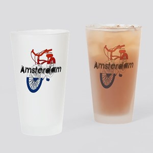 Amsterdam Bicycle Drinking Glass