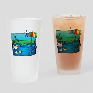 SNEAKY GATOR Drinking Glass