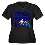 Dooteed Women's Plus Size V-Neck Dark T-Shirt
