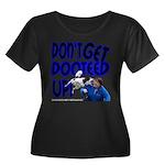 Dooteed Women's Plus Size Scoop Neck Dark T-Shirt