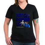 Dooteed Women's V-Neck Dark T-Shirt