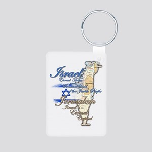 Israel, Jerusalem - Aluminum Photo Keychain