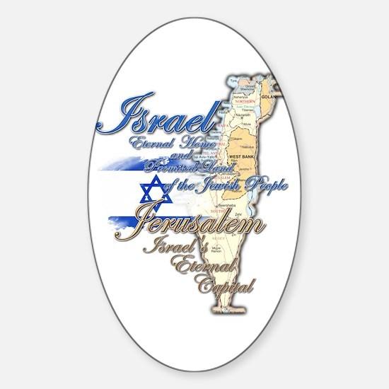 Israel, Jerusalem - Sticker (Oval)