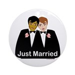 Gay Wedding Ornament (Round)
