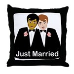 Gay Wedding Throw Pillow