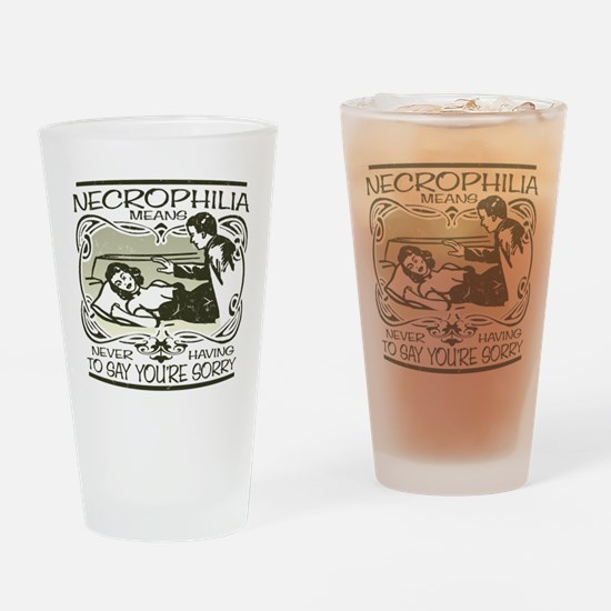Necrophilia Drinking Glass