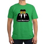 Gay Marriage Men's Fitted T-Shirt (dark)