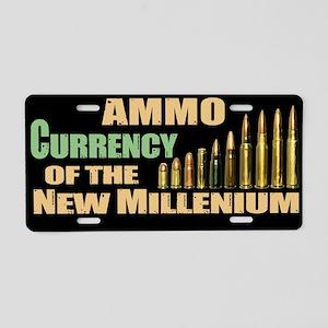 Ammo: Currency Millenium Aluminum License Plate