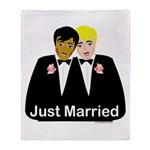 Two Grooms Throw Blanket