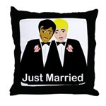Two Grooms Throw Pillow
