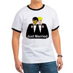 Two Grooms Ringer T