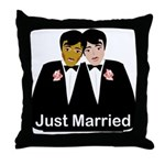 Same Sex Wedding Throw Pillow