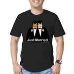 Same Sex Wedding Men's Fitted T-Shirt (dark)