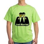 Same Sex Wedding Green T-Shirt